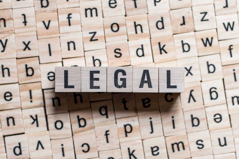 Legalny s?owo pisa? na drewnianym bloku obrazy stock