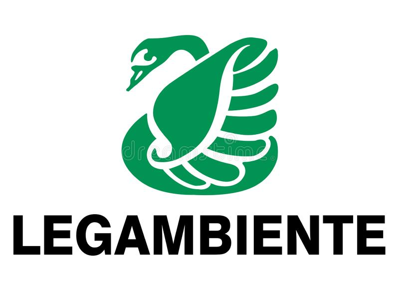 Legambiente Logo. Legambiente vector logo, which deals with environment, animals, ecology and nature High version vector available in illustrator format stock illustration