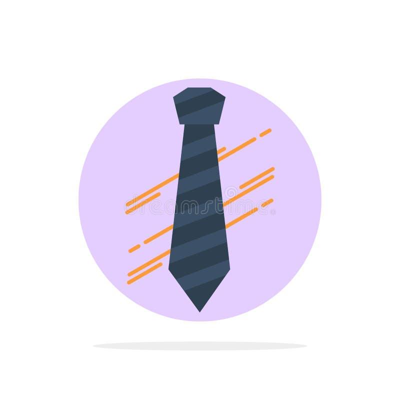 Legame, affare, vestito, modo, icona piana di colore del fondo del cerchio dell'estratto di intervista illustrazione vettoriale