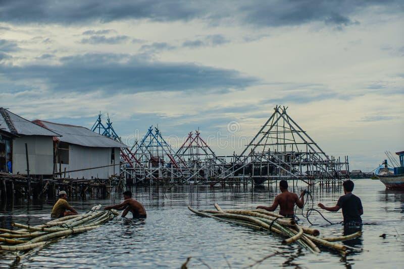 Legame di bambù fotografie stock libere da diritti