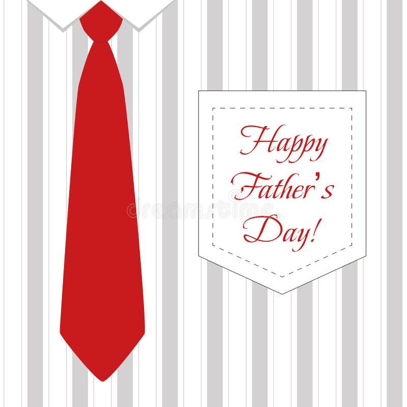 Legame e camicia per il padre Day illustrazione vettoriale