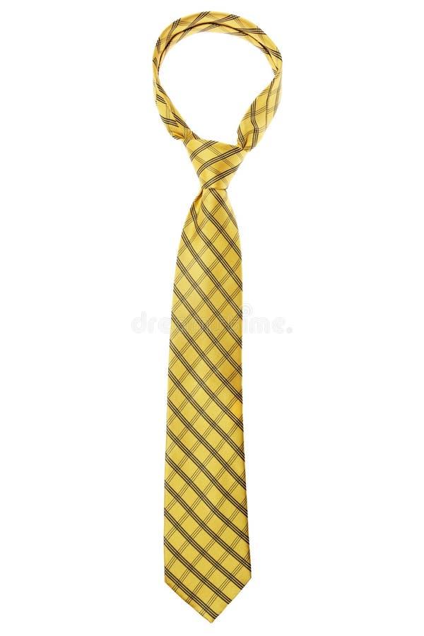 Legame giallo controllato fotografie stock