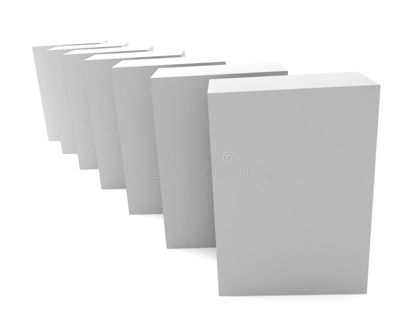 Lege 3d dozen stock illustratie