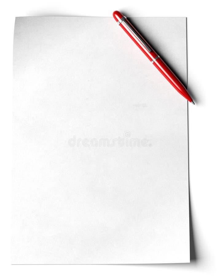 Lege A4 pagina vector illustratie