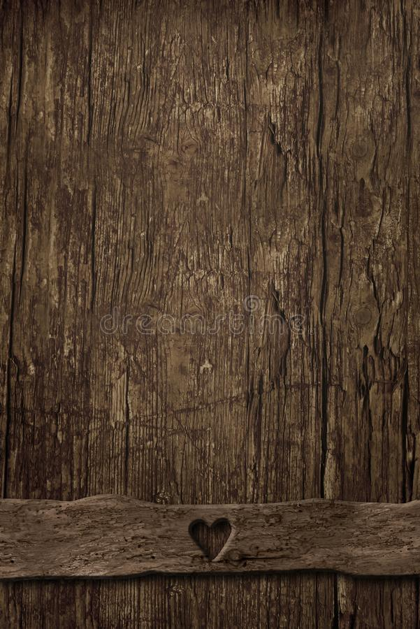 Lege achtergrond van oud verticaal hout royalty-vrije stock afbeeldingen