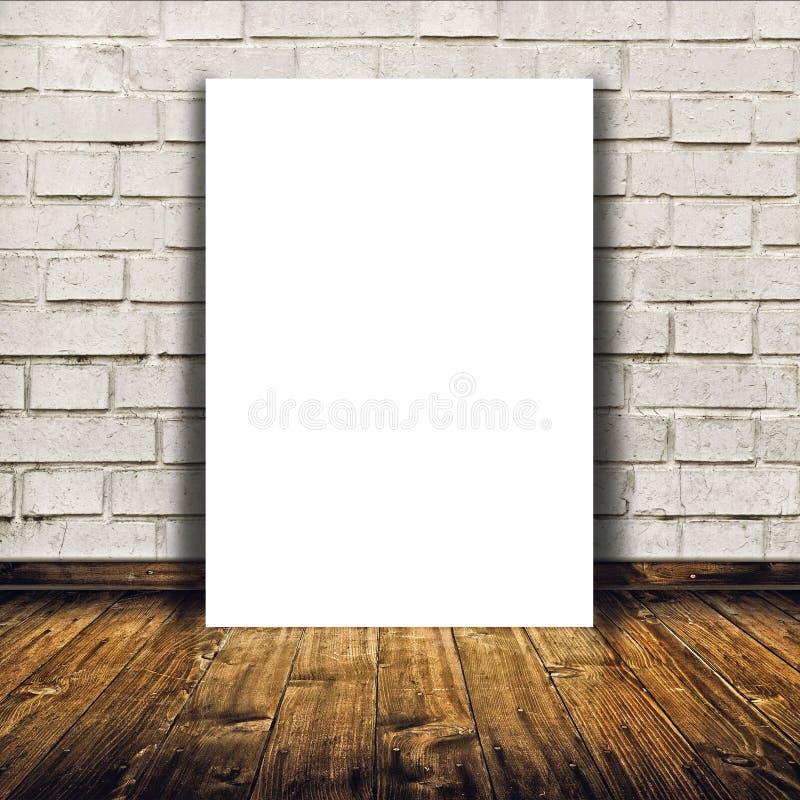 Lege affiche als exemplaar ruimtemalplaatje voor uw ontwerp stock afbeelding