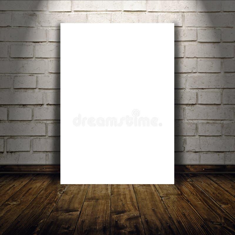 Lege affiche als exemplaar ruimtemalplaatje voor uw ontwerp stock foto