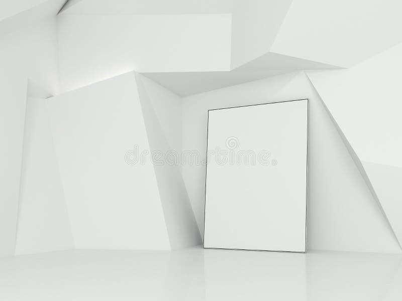 Lege affiche in de galerij het 3d teruggeven stock illustratie