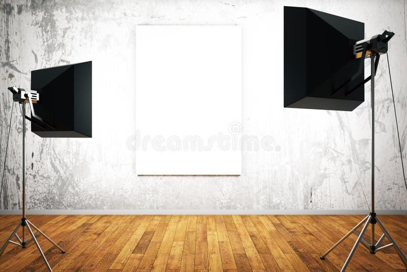 Lege affiche met verlichting vector illustratie