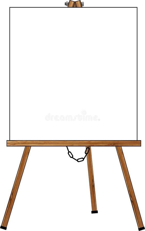 Lege affiche op een schildersezel vector illustratie