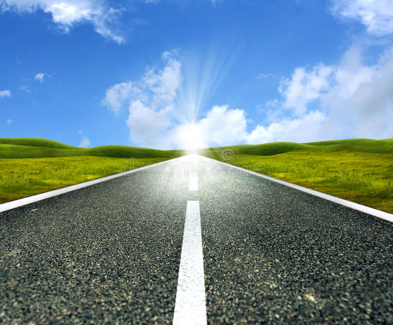 Lege asfaltweg royalty-vrije stock foto's