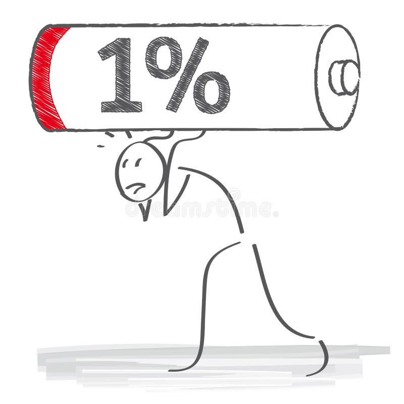 Lege Batterij stock illustratie