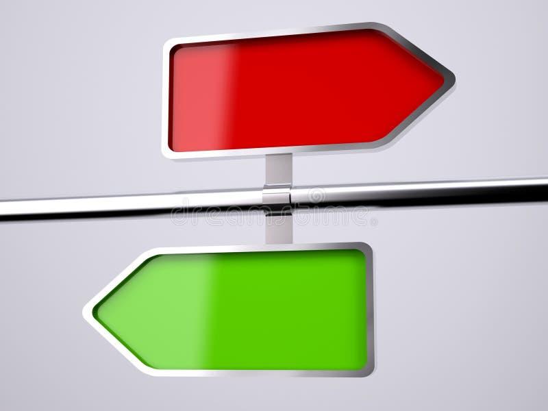Lege bidirectionele verkeersteken royalty-vrije illustratie