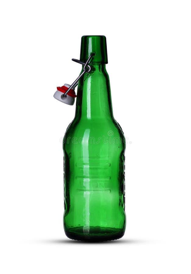 Lege bierfles stock fotografie