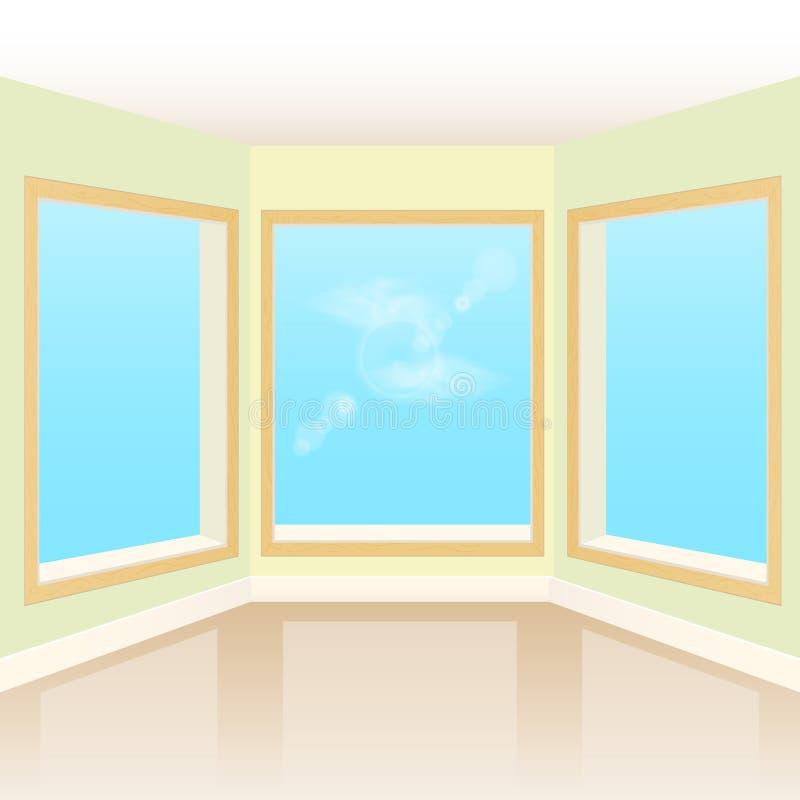 Lege binnenlandse ruimte stock illustratie
