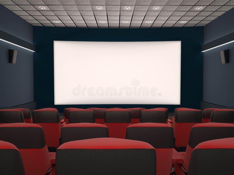 Lege bioscoop stock illustratie