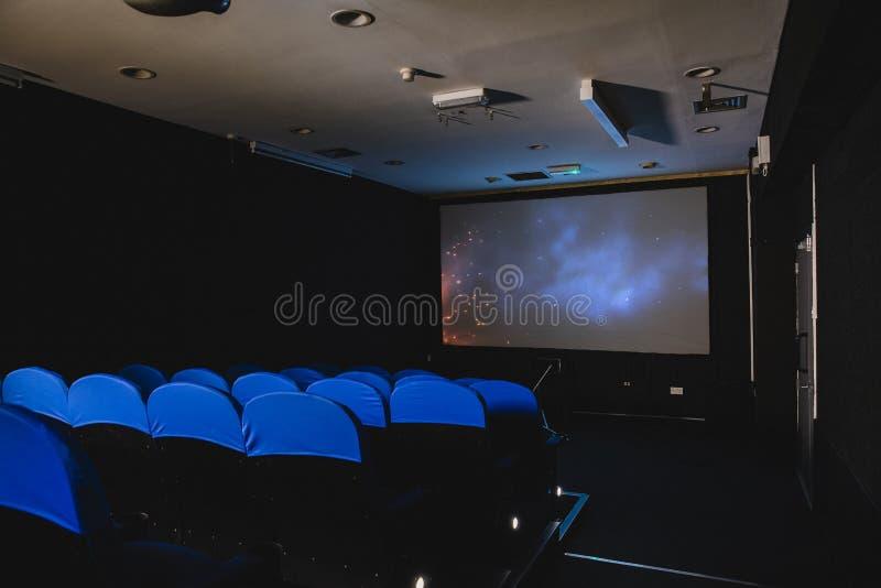 Lege bioscoop stock fotografie