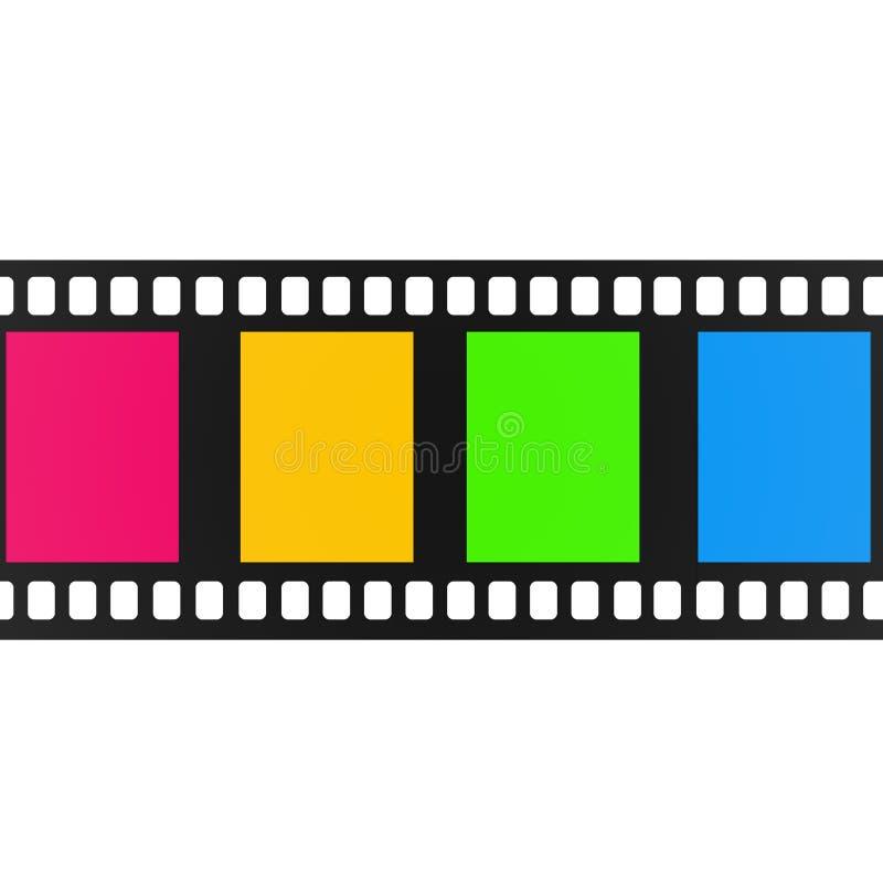 Lege bioskoopfilm die op wit wordt geïsoleerd vector illustratie