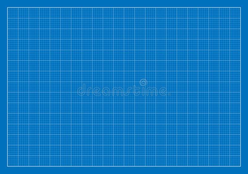 Lege Blauwdruk, Net, Architectuur vector illustratie