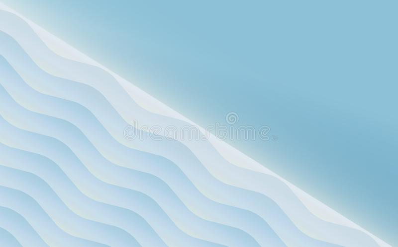 Lege blauwe gevoelige het malplaatjeachtergrond van de uitnodigingskaart royalty-vrije illustratie