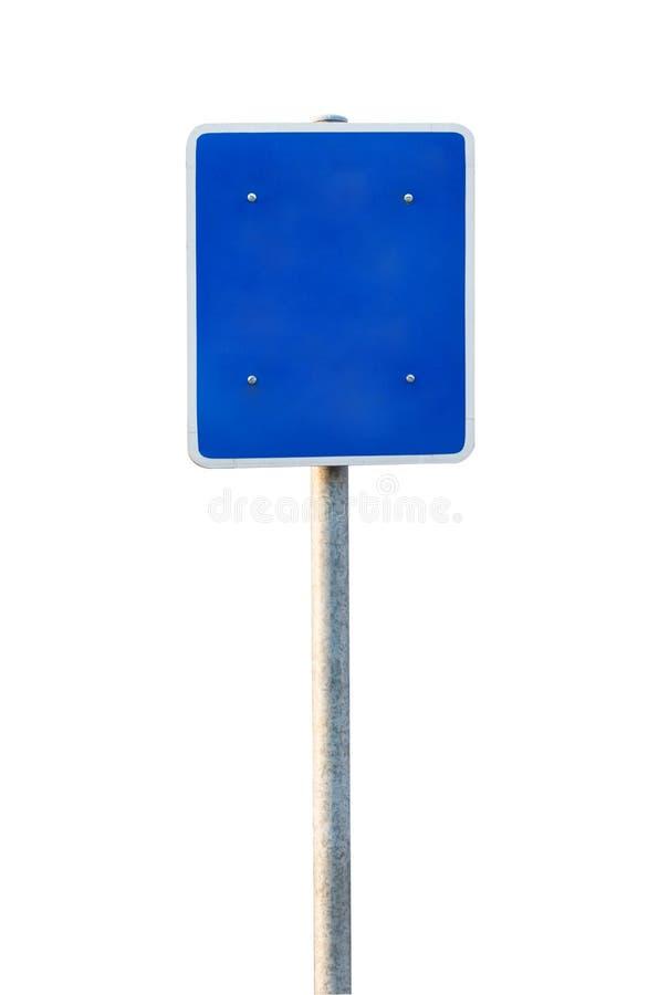Lege Blauwe Verkeersteken royalty-vrije stock fotografie