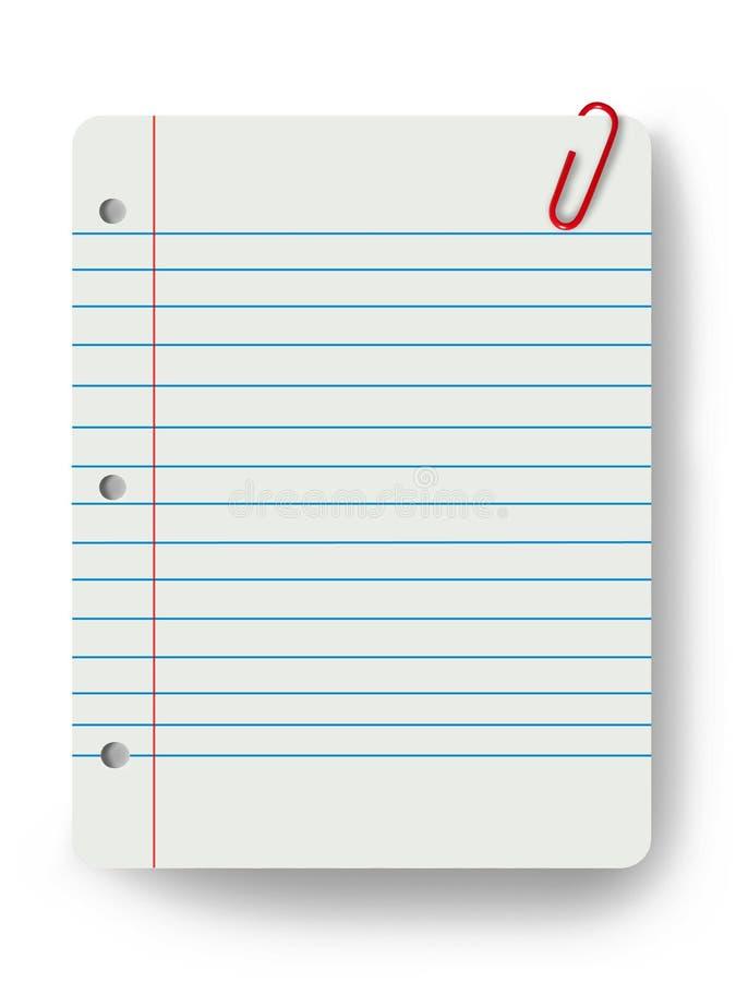 Lege blocnote en een paperclip vector illustratie