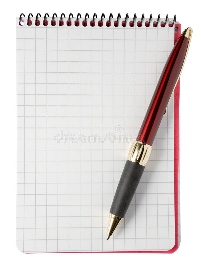 Lege Blocnote met Pen stock fotografie