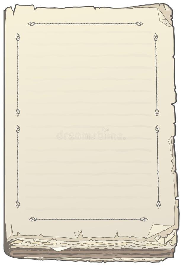 Lege boekpagina royalty-vrije illustratie
