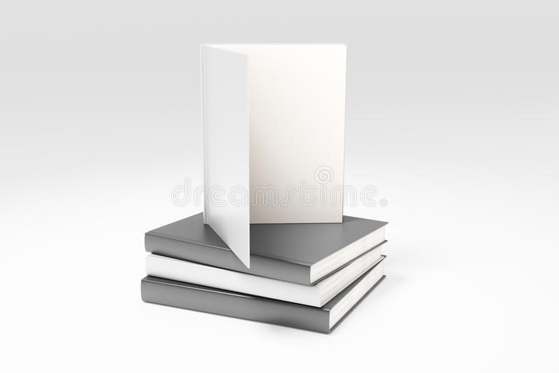 Lege boekpagina's op stapel van boeken royalty-vrije illustratie