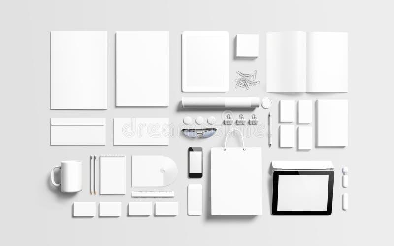 Lege brandmerkende elementen om uw ontwerp te vervangen stock illustratie