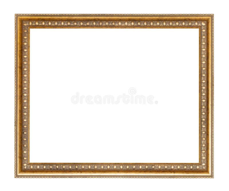 Lege brede gouden gesneden houten omlijsting royalty-vrije stock fotografie