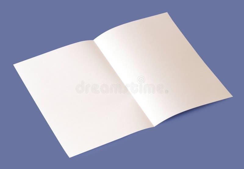 Lege brochure royalty-vrije stock fotografie