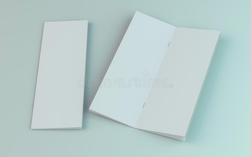 Lege brochure, tijdschrift, boekjesmodel dat op witte achtergrond wordt ge?soleerd 3d royalty-vrije illustratie