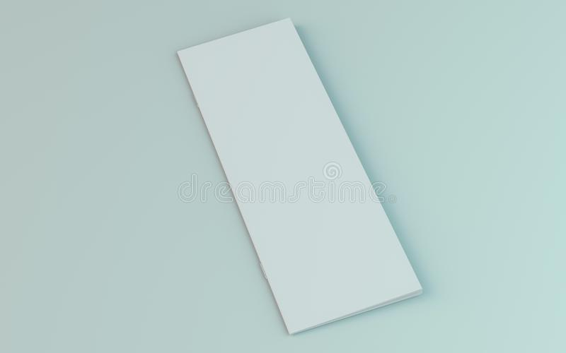 Lege brochure, tijdschrift, boekjesmodel dat op witte achtergrond wordt ge?soleerd 3d stock illustratie