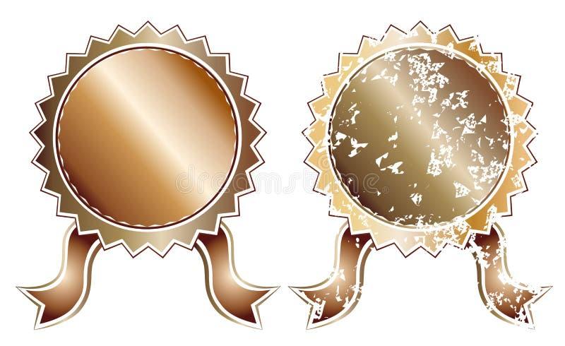 Lege bronsverbinding vector illustratie