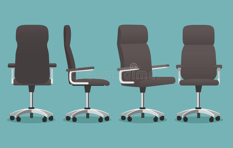 Lege bureaustoel vector illustratie