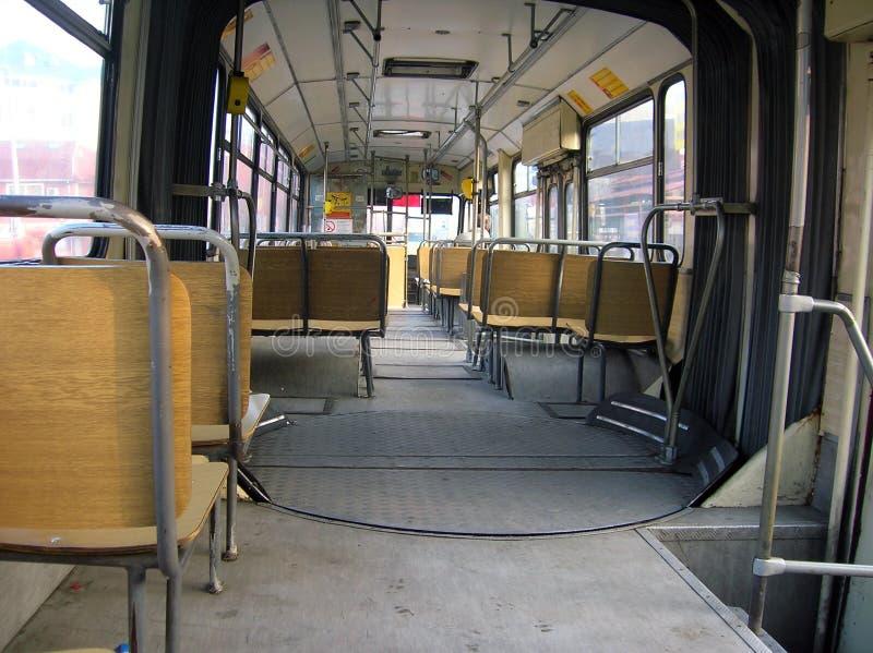 Lege bus stock afbeelding