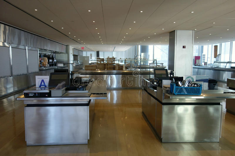 Lege Cafetaria royalty-vrije stock afbeelding