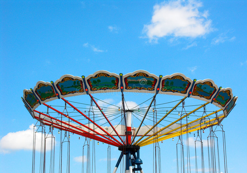 Lege carrousel stock foto