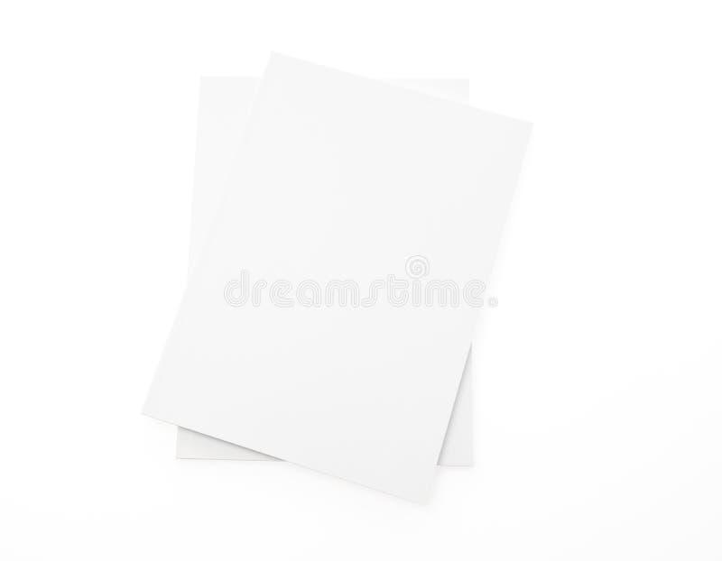 Lege catalogus, brochure, tijdschriften, boekspot omhoog op witte backgrou royalty-vrije stock foto