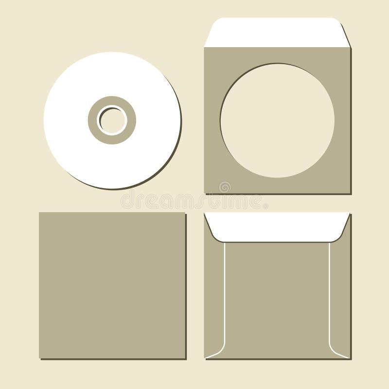 Lege CD stock illustratie