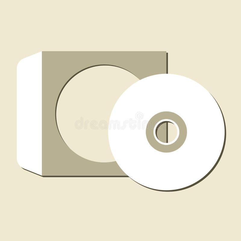 Lege CD vector illustratie