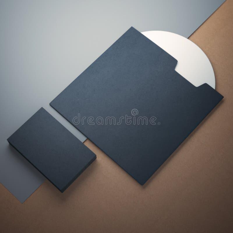 Lege CDdekking en adreskaartjes stock foto's