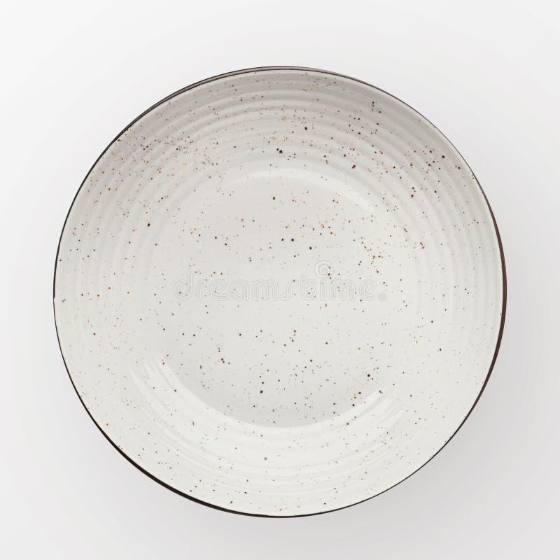 Lege ceramische ronde plaat royalty-vrije stock foto
