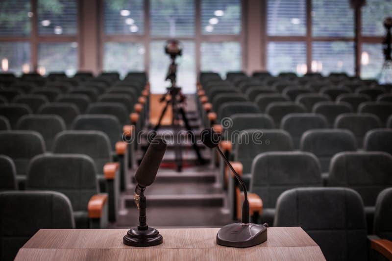 Lege conferentieruimte stock afbeelding