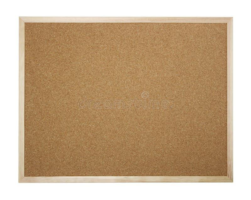 Lege cork geïsoleerde raad stock afbeelding
