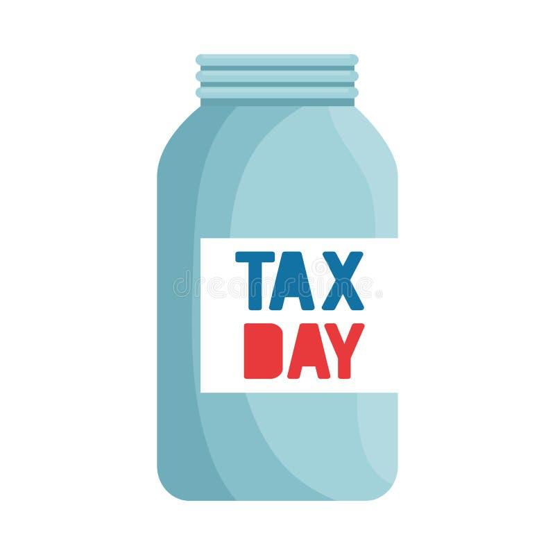 Lege de metselaarkruik van de belastingsdag royalty-vrije illustratie