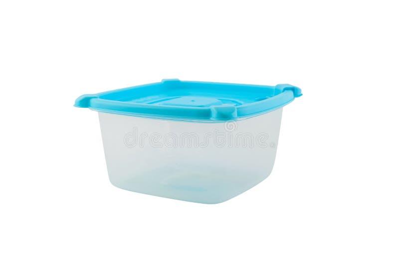Lege die containers voor voedsel op witte achtergrond wordt geïsoleerd stock afbeeldingen