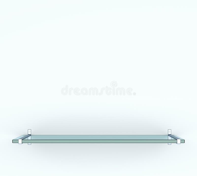 Lege die glasplank, op witte achtergrond wordt geïsoleerd vector illustratie
