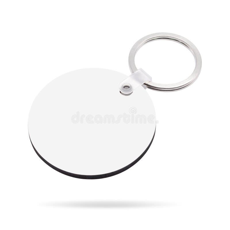 Lege die sleutelring op witte achtergrond wordt ge?soleerd Zeer belangrijke ketting voor uw ontwerp r cirkel of ronde vorm royalty-vrije stock afbeelding